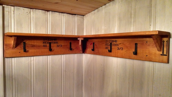 ThriftyWoodShop New Jersey Wine Crate Shelf