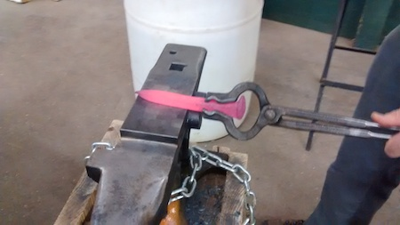 Hand Forging a Railroad Spike Knife