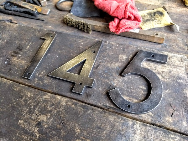 Custom Metal Address Numbers for Businesses 2 - Brown County Forge