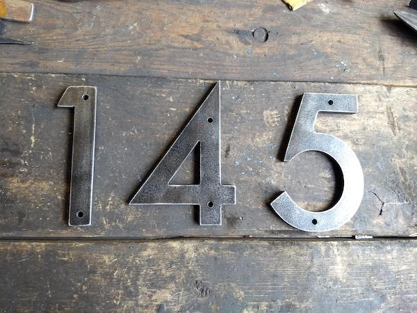Custom Metal Address Numbers for Businesses - Brown County Forge