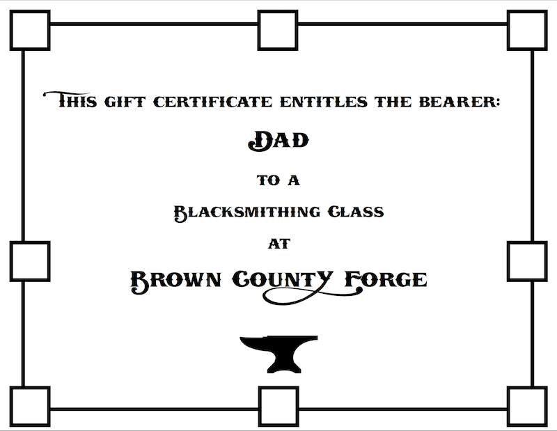 Father's Day Beginners Blacksmithing Class - Brown County Forge