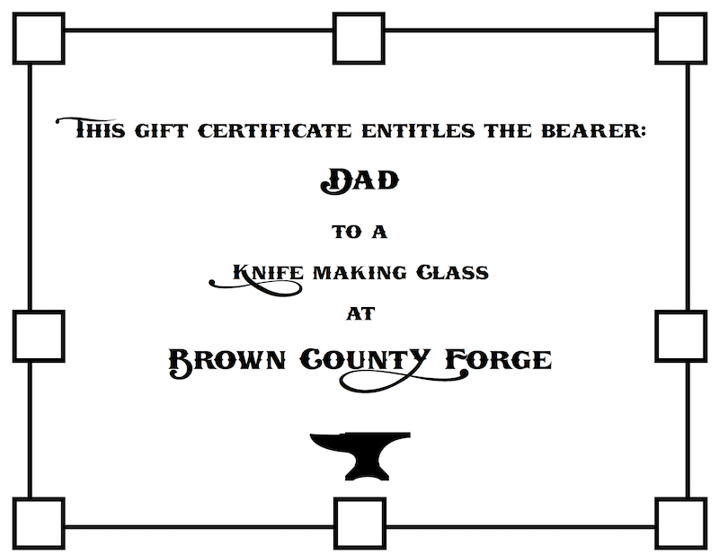 Father's Day Knife Making Class - Brown County Forge