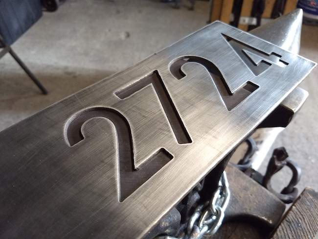 Quality House Numbers - Brown County Forge