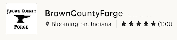 Brown County Forge Customer Reviews
