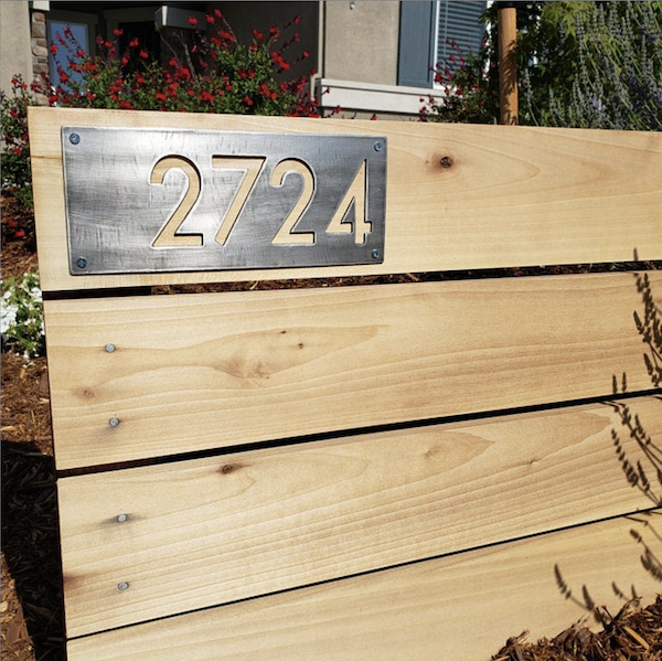 Metal House Number Review California - Brown County Forge