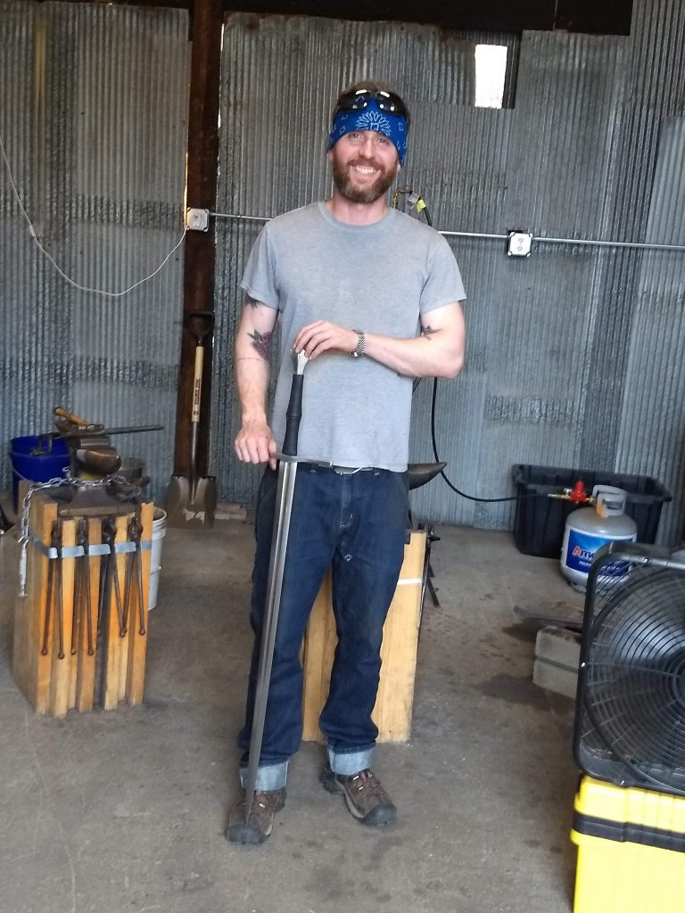 Sword Sharpening Blacksmith - Brown County Forge
