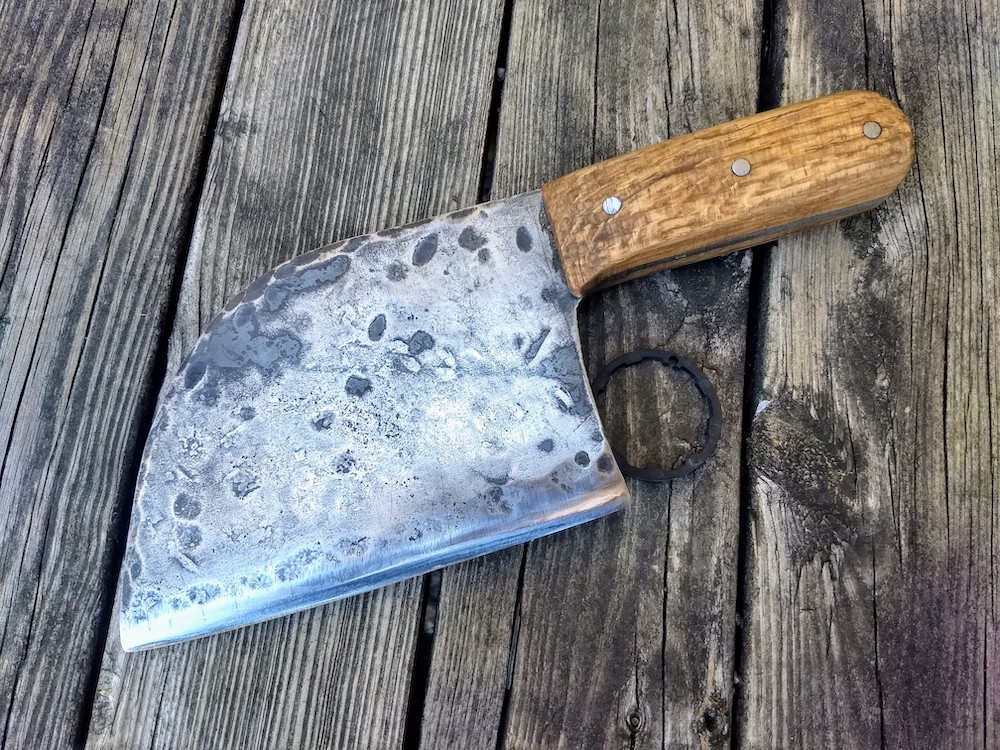 Serbian Chef Cleaver - Brown County Forge