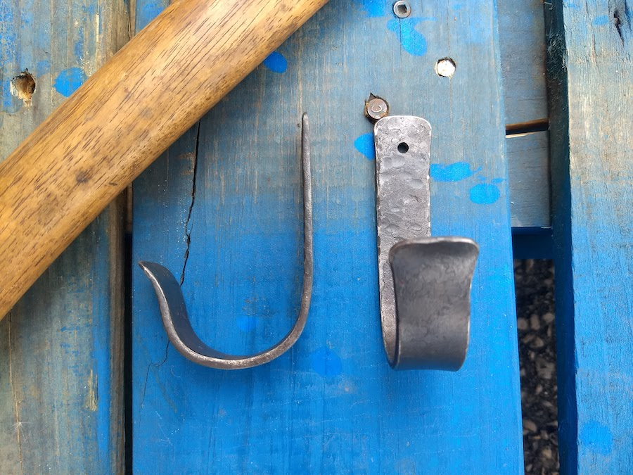 Ax Mounting Hooks - Ax Hooks - Brown County Forge