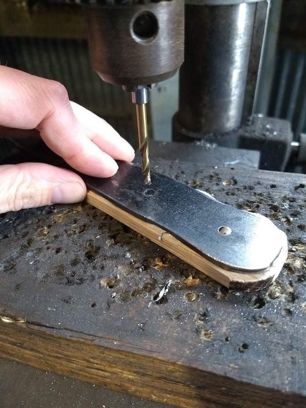 Drilling Pin Holes - DIY Knife Making