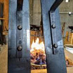 Large Lantern Brackets Detail - Brown County Forge