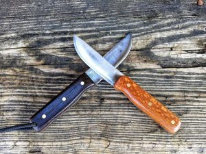 Custom Knives with Wenge and Lacewood Handles - Brown County Forge