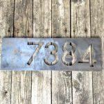 Custom Modern Metal Address Plates - Brown County Forge