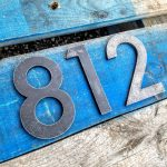 Custom Modern Metal House Numbers - Brown County Forge