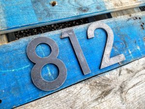 Custom Modern Metal House Numbers - Brown County Forge