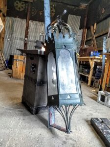 Large Lantern Brackets - Brown County Forge