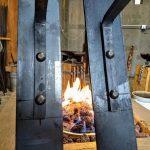 Large Lantern Brackets Detail - Brown County Forge