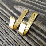 Pair of Brass Hooks - Brown County Forge