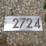 Stainless Steel Modern House Numbers - Brown County Forge